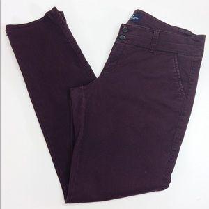 American Eagle Skinny Jeans Burgundy
